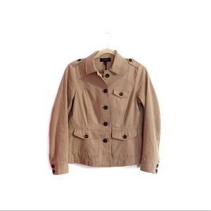 Talbots Beige Cropped Peplum Blazer Jacket 4P